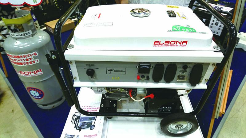 ハイブリッド式非常用発電機「エルソナ」