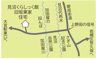 旧坂東家住宅への地図
